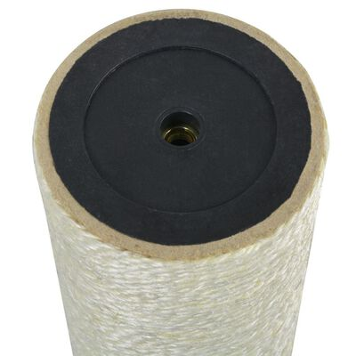 vidaXL Klöspelare för katt 8x25 cm 8 mm beige,