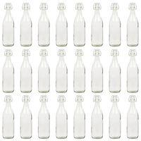 vidaXL Glasflaska med lock 24 st 1 liter