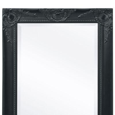 vidaXL Väggspegel i barockstil 120x60 cm svart