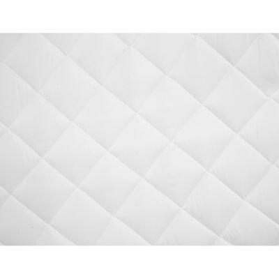 vidaXL Kviltat madrasskydd vit 160x200 cm tungt