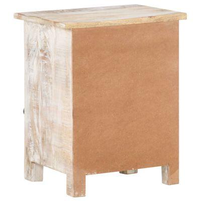 vidaXL Sängbord 40x30x50 cm massivt grovt mangoträ