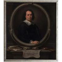 Med ram self-Portrait,Bartolome Esteban Murillo,61x51cm