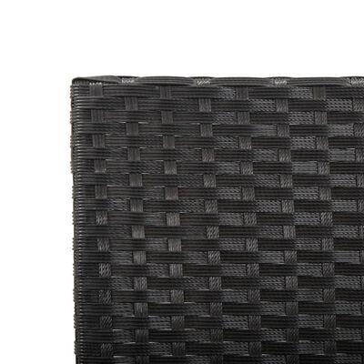 vidaXL Trädgårdsbänk med dynor 176 cm svart konstrotting
