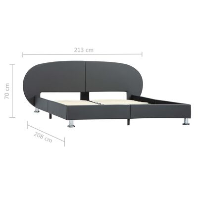 vidaXL Sängram grå konstläder 180x200 cm