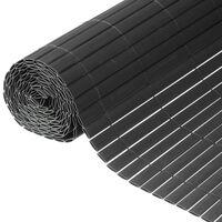 Nature Dubbelsidigt insynsskydd PVC 1,5x3m antracit