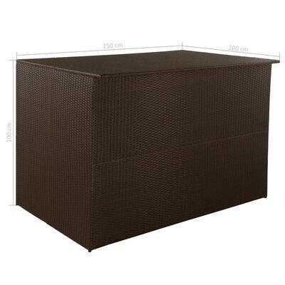 vidaXL Dynbox 150x100x100 cm konstrotting brun