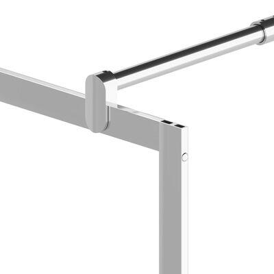 vidaXL Duschvägg med ESG-glas stendesign 90x195 cm,