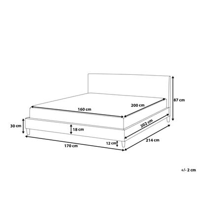 Överdrag till säng 160 x 200 cm mörkblå FITOU