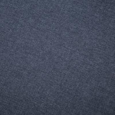 vidaXL Soffa L-formad tyg 186x136x79 cm mörkgrå