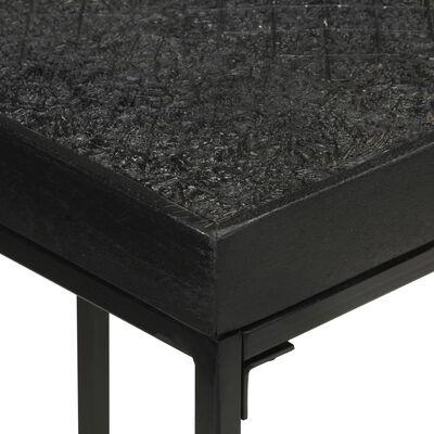 vidaXL Konsolbord svart 110x35x76 cm massivt akaciaträ och mangoträ