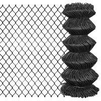 vidaXL Flätverksstängsel stål 25x0,8 m grå