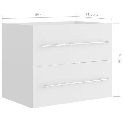 vidaXL Tvättställsskåp vit 60x38,5x48 cm spånskiva