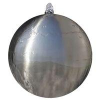 vidaXL Sfärisk Trädgårdsfontän i rostfritt stål med LEDs 20 cm