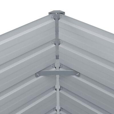 vidaXL Odlingslåda 100x100x45 cm galvaniserat stål antracit