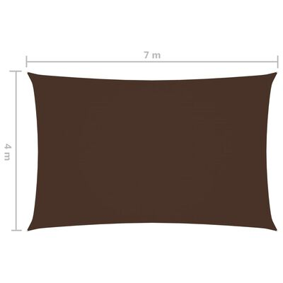 vidaXL Solsegel oxfordtyg rektangulärt 4x7 m brun