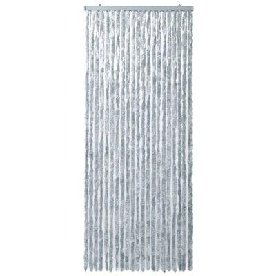 vidaXL Insektsdraperi vit och grå 90x220 cm chenille