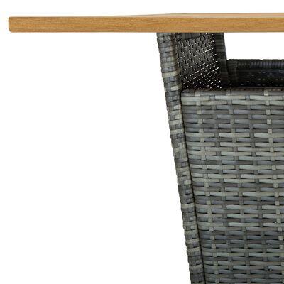 vidaXL Bargrupp för trädgården med dynor 5 delar konstrotting grå