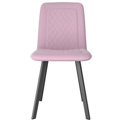 vidaXL Matstolar 4 st rosa sammet