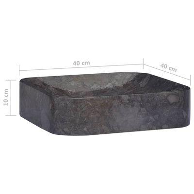 vidaXL Handfat svart 40x40x10 cm marmor