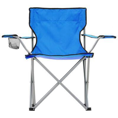 vidaXL Campingbord och stolar 3 delar blå