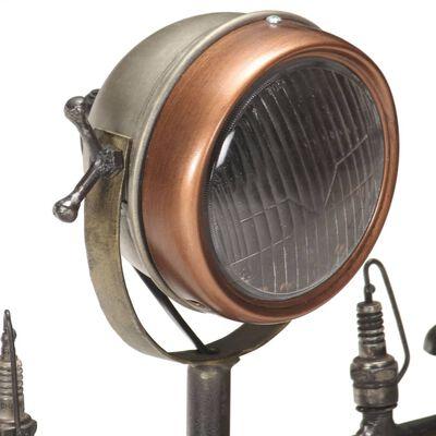 vidaXL Golvlampa med reparatörsdesign järn