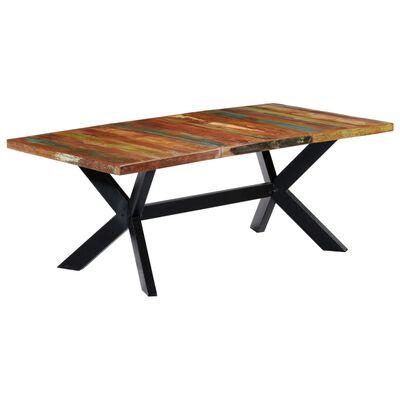 vidaXL Matbord 200x100x75 cm massivt återvunnet trä