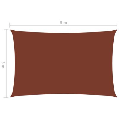 vidaXL Solsegel oxfordtyg rektangulärt 3x5 m terrakotta