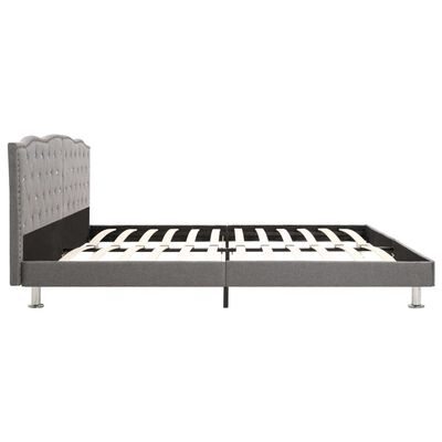 vidaXL Säng med madrass ljusgrå tyg 180x200 cm