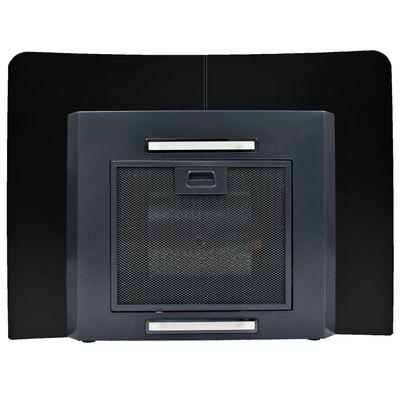 vidaXL Väggmonterad köksfläkt rostfritt stål 756 m³/h 60 cm svart