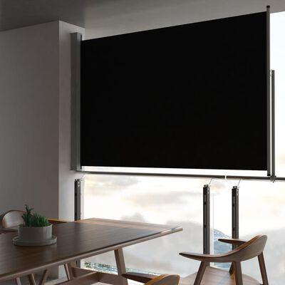 vidaXL Infällbar sidomarkis 160 x 300 cm svart