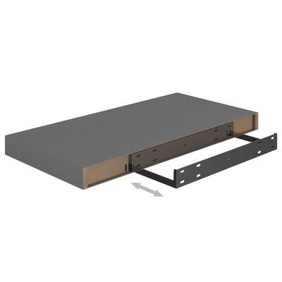 vidaXL Svävande vägghyllor 4 st grå högglans 50x23x3,8 cm MDF