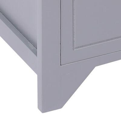 vidaXL TV-bänk grå 115x30x40 cm kejsarträ