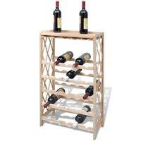 vidaXL Vinställ för 25 flaskor granträ