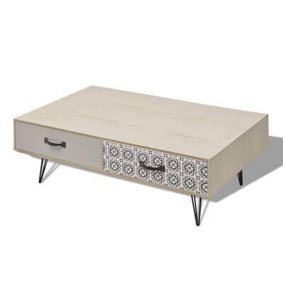 vidaXL Soffbord 100x60x35 cm beige