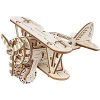 Eco-Wood-Art Byggmodell i trä biplan