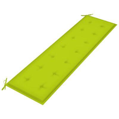 vidaXL Dyna till trädgårdsbänk ljusgrön 180x50x4 cm tyg