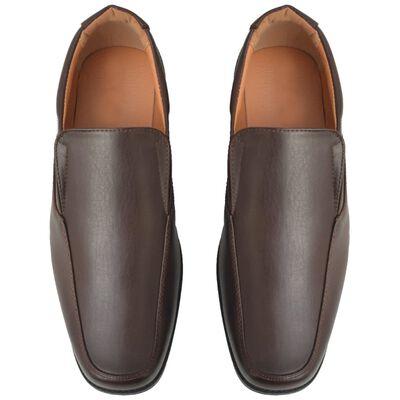 vidaXL Loafers herr storlek 44 konstläder brun