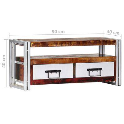 vidaXL TV-bänk 90x30x40 cm massivt återvunnet trä