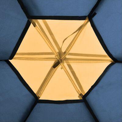 vidaXL Sexmannatält blå och gul