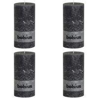 Bolsius Blockljus 200x100 mm antracit 4-pack