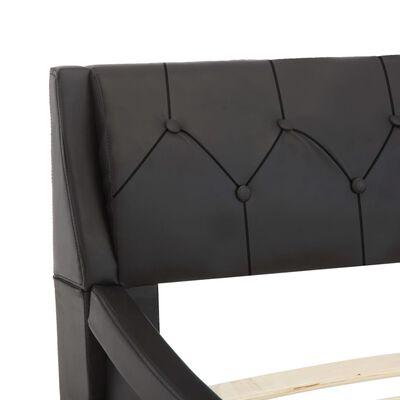 vidaXL Sängram svart konstläder 100x200 cm