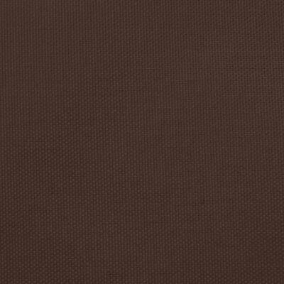 vidaXL Solsegel oxfordtyg trekantigt 3,5x3,5x4,9 m brun