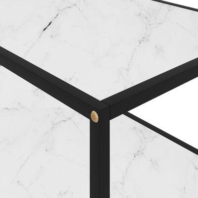 vidaXL Soffbord vit 100x50x35 cm härdat glas
