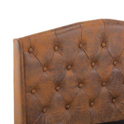 vidaXL Sängram brun konstmocka 90 x 200 cm