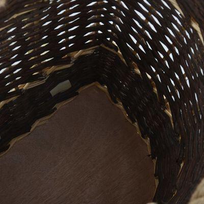vidaXL Vedkorg med bärremmar 44,5x37x50 cm naturlig pil