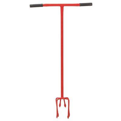 vidaXL Handkultivator röd stål