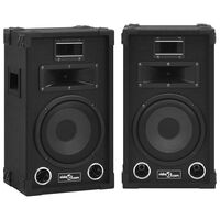 vidaXL Passiva PA-högtalare 2 st 800 W svart