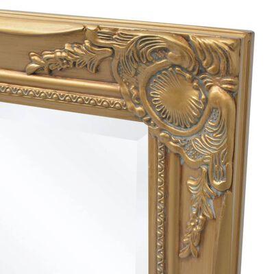 vidaXL Väggspegel i barockstil 120x60 cm guld