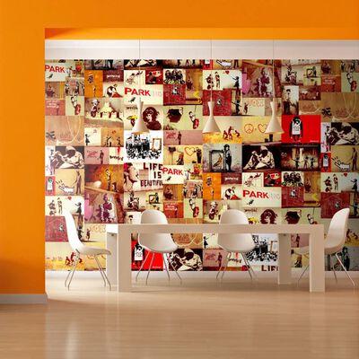 Fototapet - Collage - Banksy - 50x1000 Cm