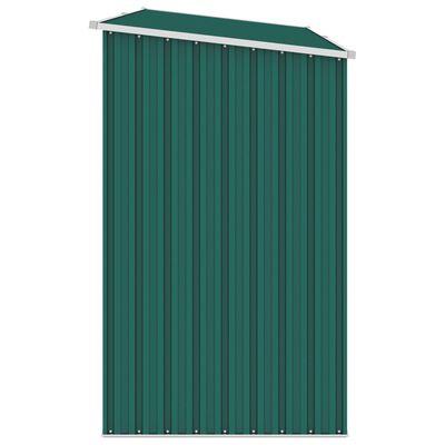 vidaXL Vedskjul grön 245x98x159 cm galvaniserat stål